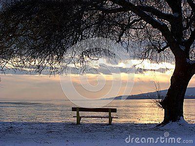 Lake Balaton in winter (Hungary