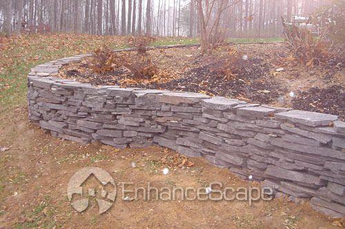 Just the wall, not the dirt!: Gardens Ideas, Decks Ideas, Retaining Walls, Wall Inspiration, Photos Shared, Unique Retaining, Wall Ideas