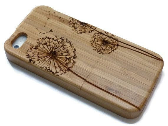 wooden iphone SE case / iphone SE case wood by CreativeUseofTech