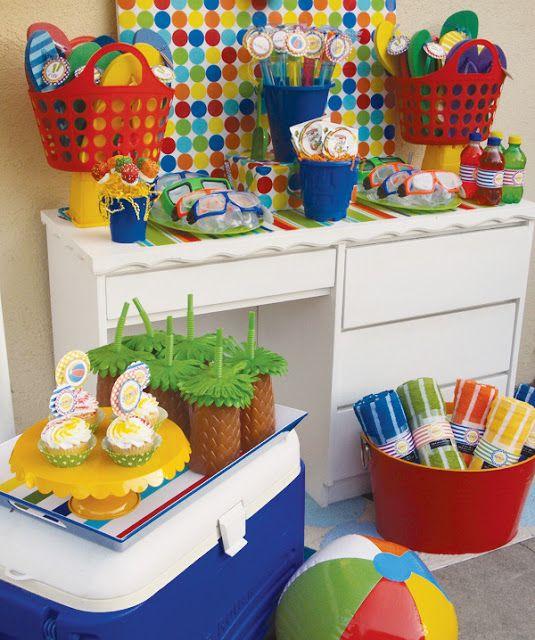 Tema para festa infantil: Pool Party (festa na piscina)