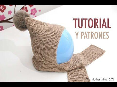 DIY Cómo hacer gorro de lana con bufanda (talla 6 a 18 meses) | Oh, Mother Mine DIY!!