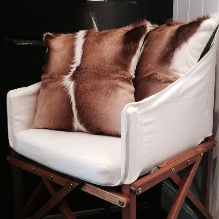 Springbok hide cushion