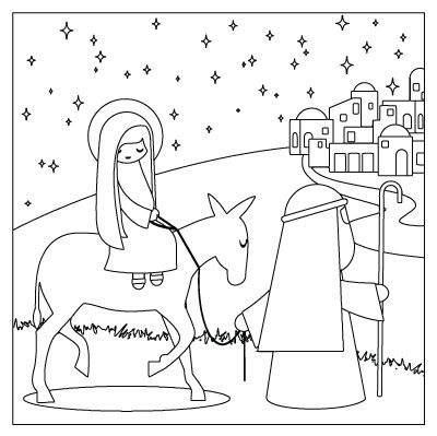 Free Printable Coloring Page Of Nativity Story From The Advent Calendar Kit Fourth Step