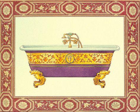 Vasche da bagno IV Arte di Sheila Higton su AllPosters.it