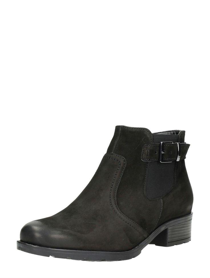 Ara Chelsea boots met gesp - zwart