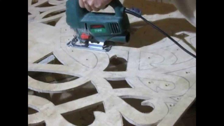 Вырезка из фанеры на потолок / carving of plywood on the ceiling