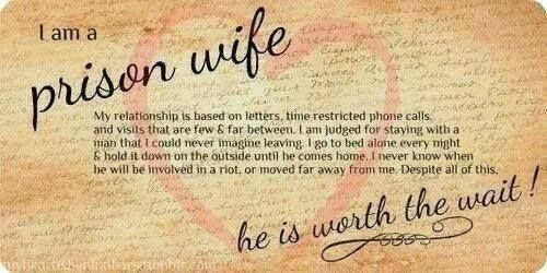 I Love You Quotes For Him In Jail : Prison Wife Inmate Love Incarceration strongprisonwives.com Quotes ...
