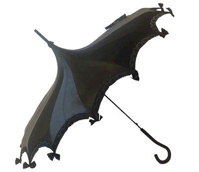 Satin Black Umbrella