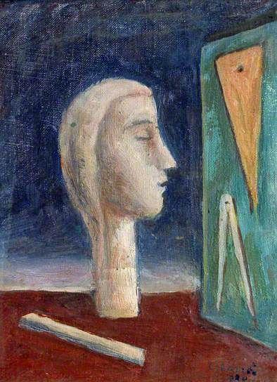 The Engineer's Mistress by Carlo #Carrà, 1920/1940 #estorick