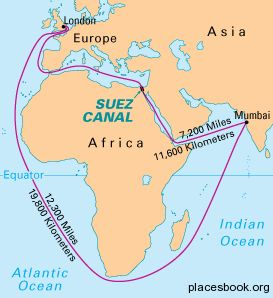 Suez Canal On Africa Map | Map Of Africa