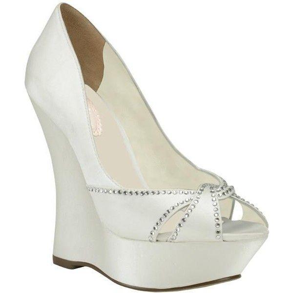 paradox pink cherish ivory satin wedding shoes new liked on polyvore