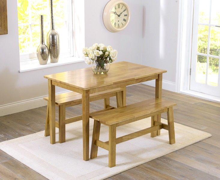 Buy The Chiltern Oak Dining Set With Benches At Oak Furniture Superstore 199
