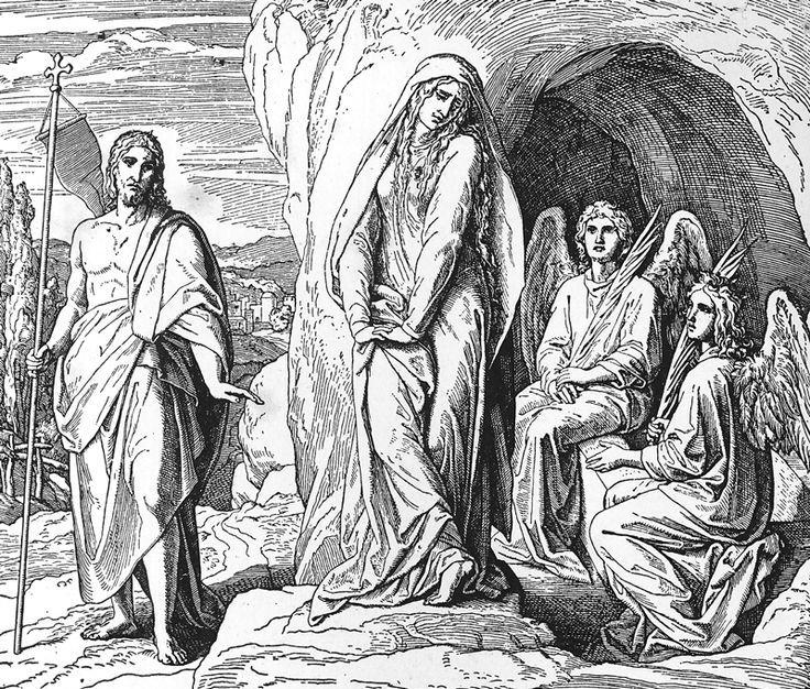 Bilder der Bibel – Magdalena sucht den Herrn – Julius Schnorr von Carolsfeld -…   – Bibelsprüche