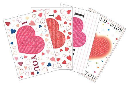 I LOVE YOU ポストカード 世界の言葉 愛しています 愛してる