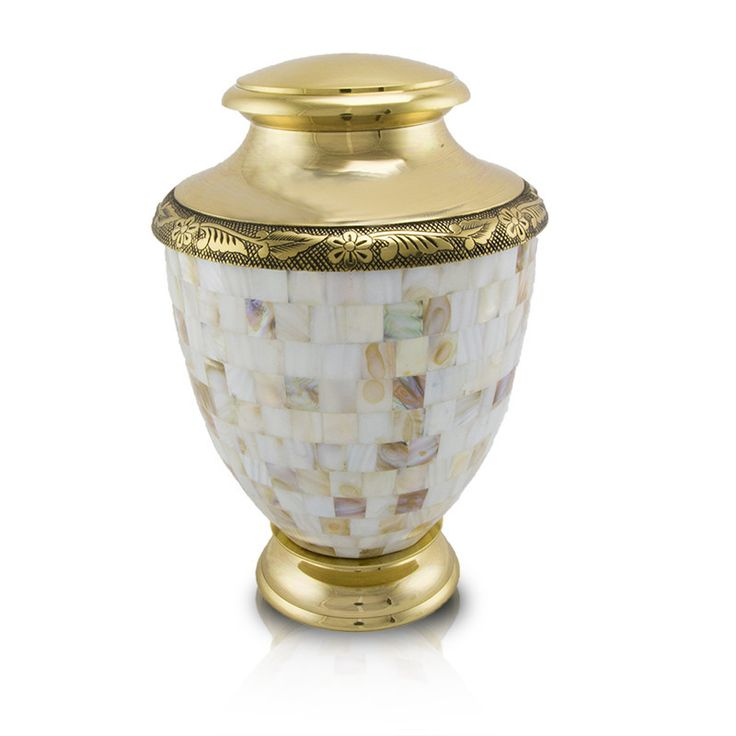 Adult Pearl Mosaic Cremation Urn