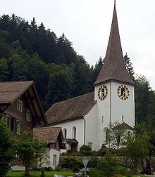 The church in Fischenthal, Canton Zurich, Switzerland, where some of my dad's family came from