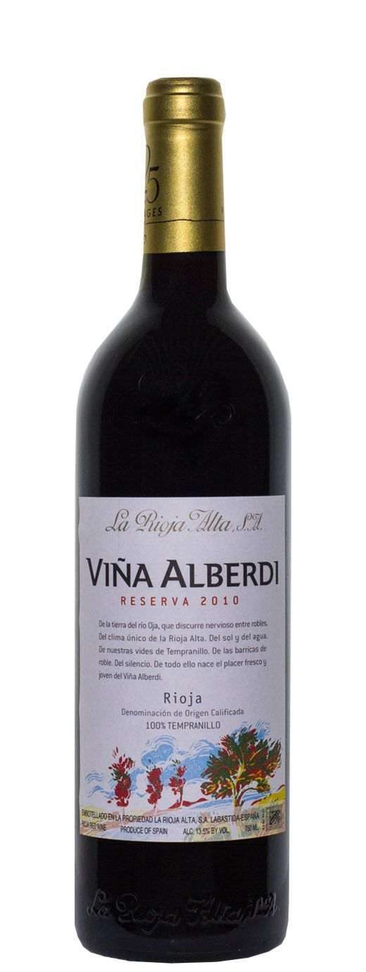 2010 La Rioja Alta Reserva Vina Alberdi - Buy Wine Online | B-21 Wine, Liquor & Beer | La Rioja Alta was at the top of their game, the 2010 Viña Alberdi flat out exceptional; candidate for all around greatest Rioja value to ever cross my palate. Combining a host of red fruits, floral components and laser-like precision, this recalls Riojas costing 3 times the price. I was – quite frankly – blown away.
