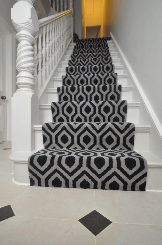Geometric Stair Runner By Bowloom Ltd. Www.bowloom.co.uk
