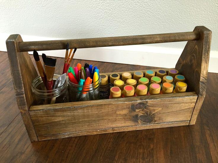 Woodland Flower: vintage wood tool box