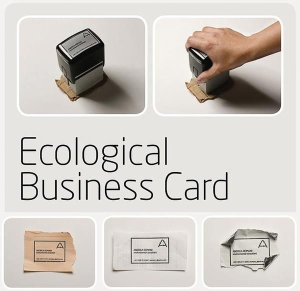 Ecological Buisness Card - think I have to steal this idea... that is if the day ever comes that I will actually need a business card