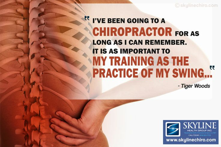 Tiger Woods on chiropractic