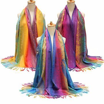 Women Shade Pohemina Scarf Stole Shawl Wrap Soft Cotton Scarves online - NewChic Mobile.
