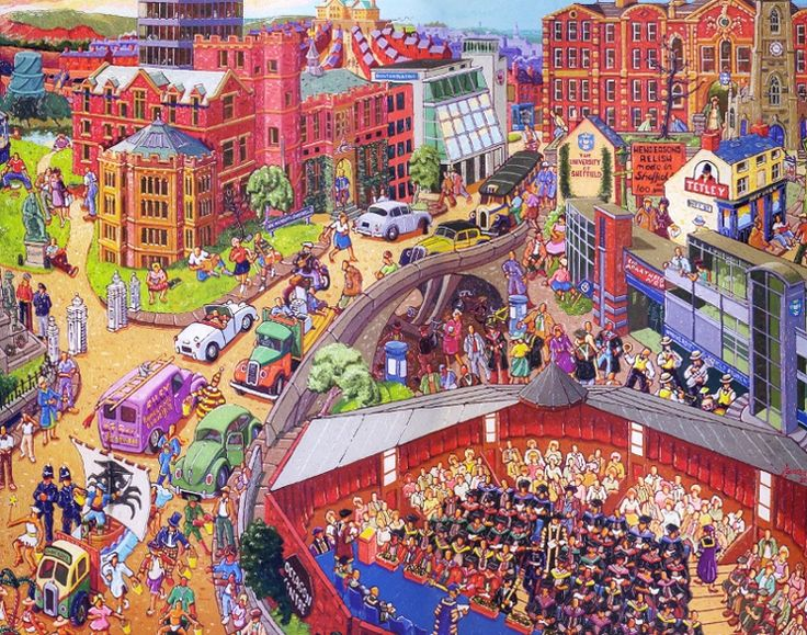 Joe Scarborough: Our university. Scarborough is a local artist to Sheffield.