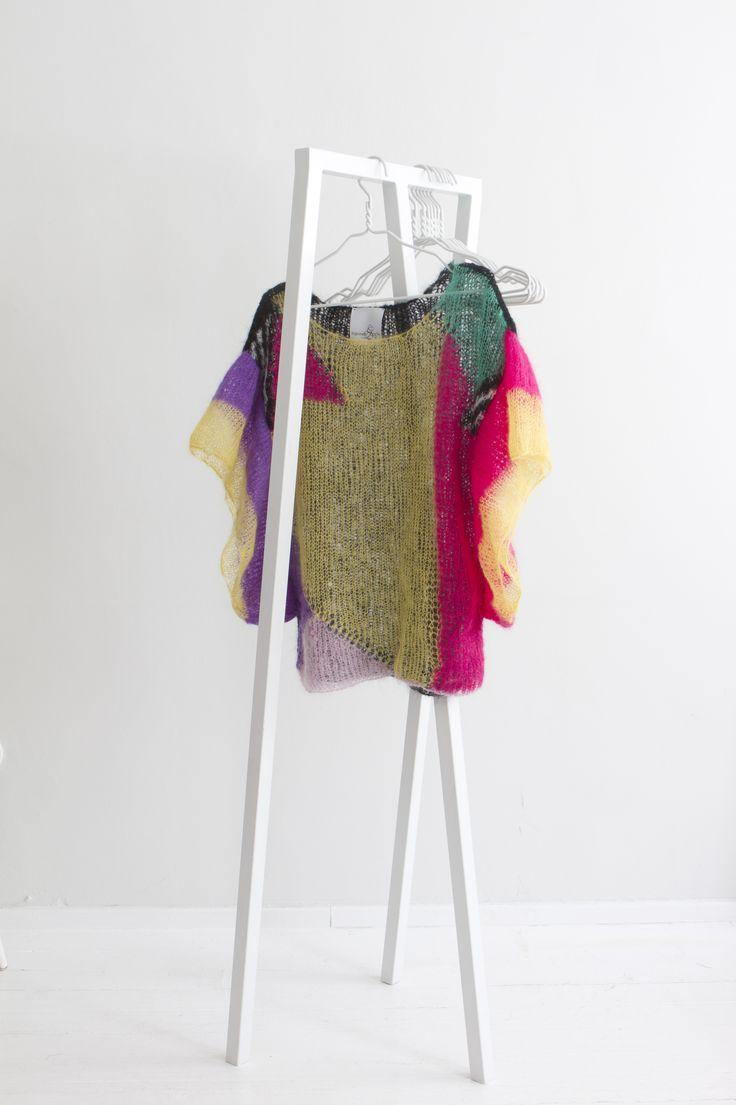 """""""Geometry"""" Hanna Sarén AW13 / multicolour mohair blouse"""
