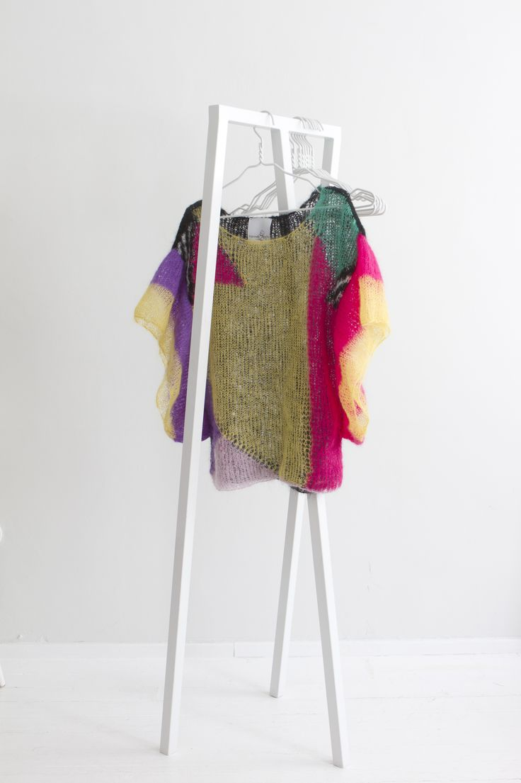 """Geometry"" Hanna Sarén AW13 / multicolour mohair blouse"