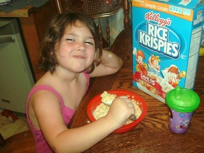 Mady H.  my rice krispies cereal sings to me every morning!: Rice Krispie