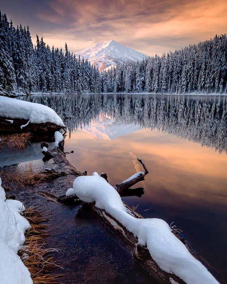 ***Winter reflections (Bend, Oregon) by Ross Lipson (@rosslipson) on Instagram ❄️c.