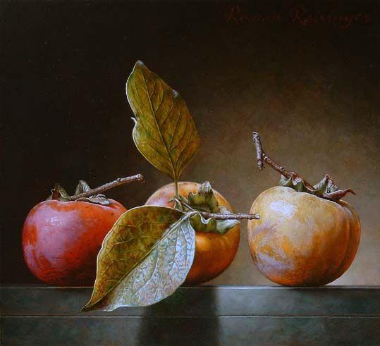 Roman Reisinger - Still life with 3 persimmons