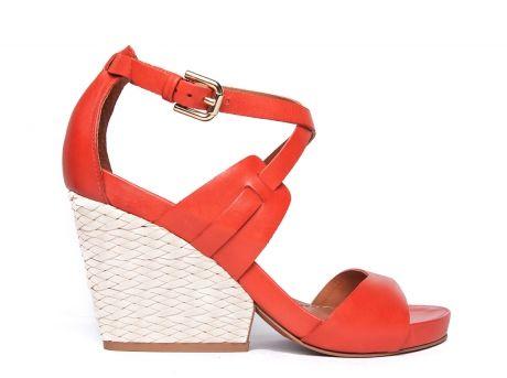 ZILIAN :: Loja Online | sapatos :: SPRING SUMMER :: Sandálias em pele vermelha