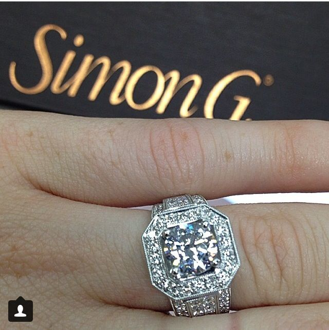 1.06ct center stone. Simon G. Setting. Gabriel Fine Jewelers in Modesto,Ca 209-529-2110
