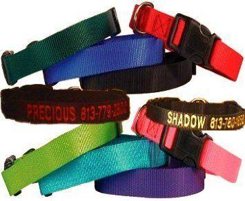 Custom Personalized Embroidered Dog Collars. « DogSiteWorld.com – DogSiteWorld-Store...