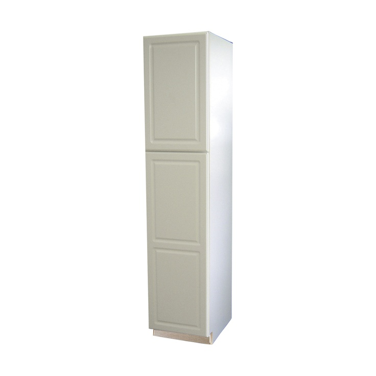 Shop Kitchen Classics 84 In H X 18 In W X 23 3 4 In D Concord White Pantry Wall Cabinet At Lowes