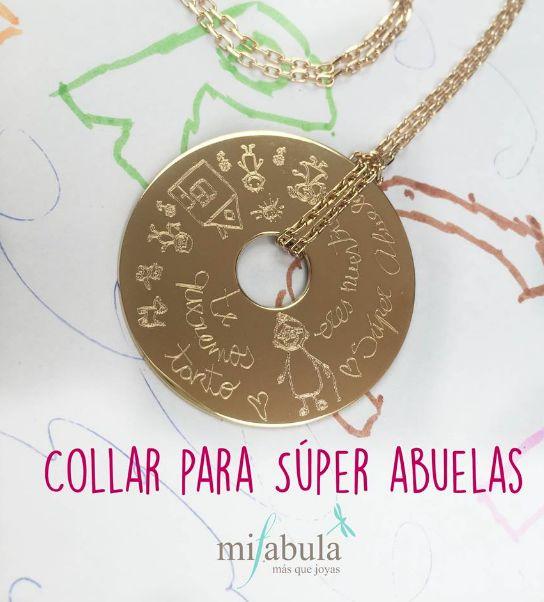 Un regalo muy especial para las Súper Abuelas. #mifabula #joyasfabulosas #collar #joyaspersonalizadas http://mifabula.com/collar-diamante-4cm-con-dibujo-cadena-larga.html Etiquetar fotoAñadir lugarEditar