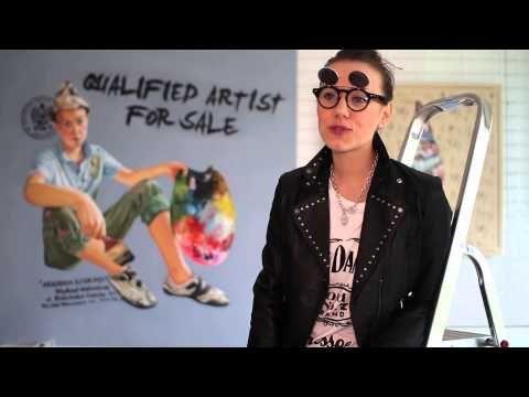 Youtube/ film promocyjny dla Art Pistols Galeria/ Justyna Kisielewicz- Kim jest osoba, która stoi za tymi obrazami?