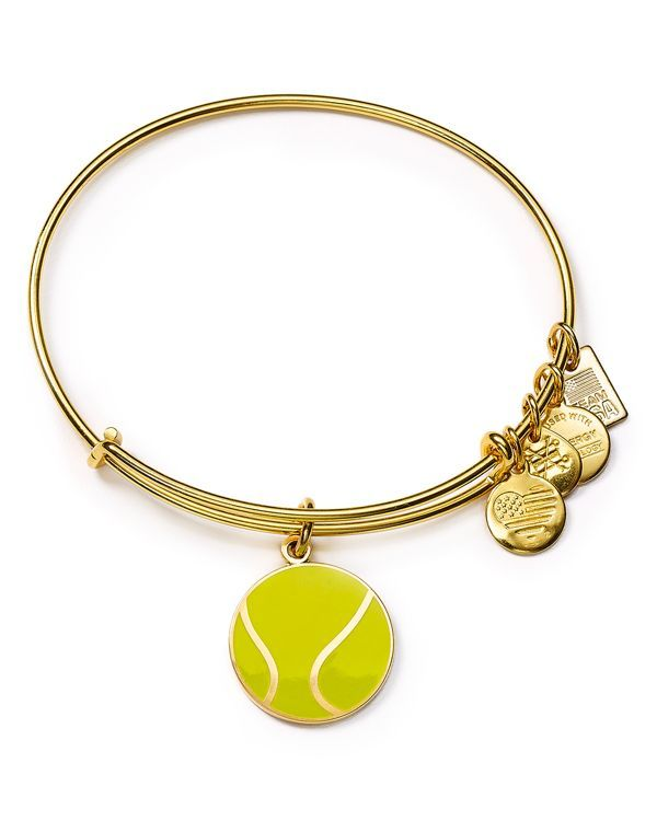 "Featuring a charm inspired by Team Usa Tennis, this Alex and Ani bangle makes a sporty statement. | Made in USA | 2.5"" diameter 