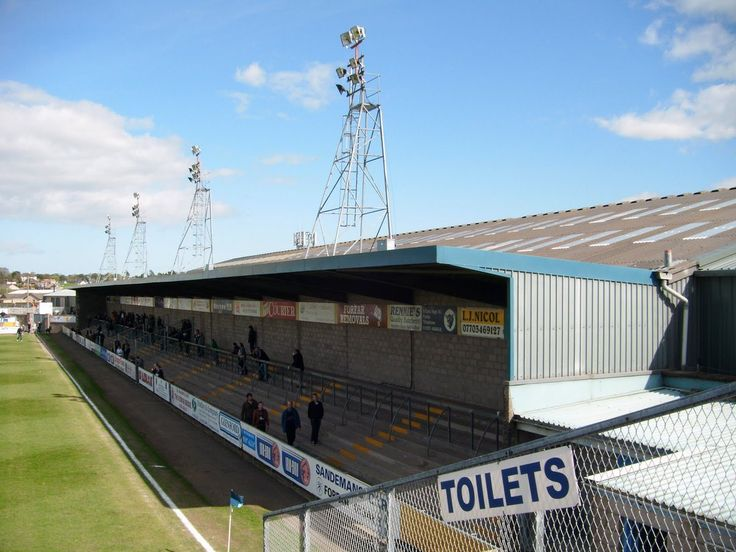 The covered South Terrace at Station Park, Forfar. (Forfar Athletic v East Stirlingshire, 2011) Picture: Bas