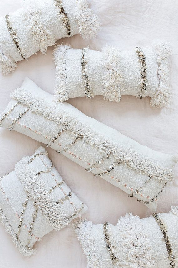 Mariage marocain couverture oreiller, oreiller traversin, oreiller de corps, Handira, coussin lombaire, oreiller décoratif Bohème, Boho oreiller, oreiller du Sequin