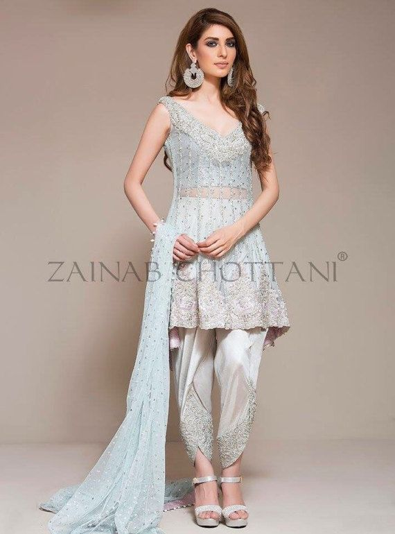 Zainab Chottani iced blue peplum dress by IrmaDesign on Etsy