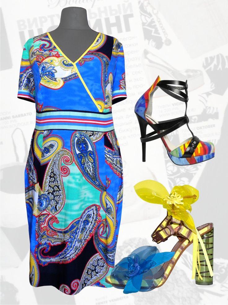 """33$ Штапельное платье для полных """"Синие огурцы"""" Артикул 490, р50-64 Платья больших размеров  Повседневные платья больших размеров  Платья на каждый день больших размеров  Летние платья больших размеров Платья миди больших размеров  Дизайнерские платья больших размеров Красивые платья больших размеров  Модные платья больших размеров  Стильные платья больших размеров"""