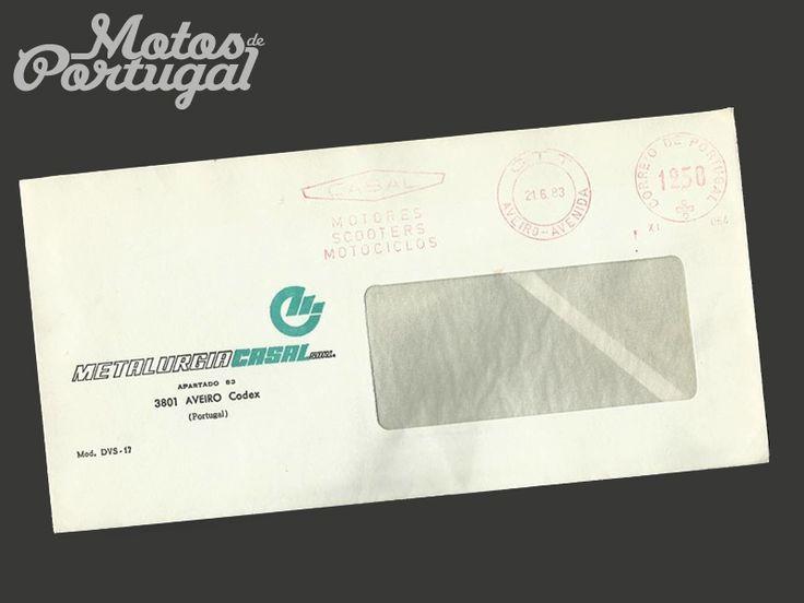 Casal motorcycle factory envelope - 1983