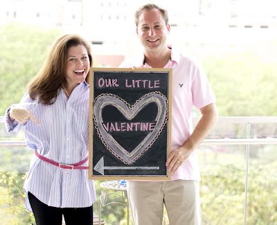 Adorable Valentine's Day gender reveal idea! (And with Panorama prenatal screening, you could reveal the gender of your little valentine at just 9 weeks!)