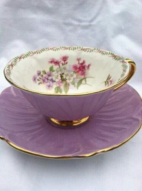 I really like this tea cup and saucer, with the flowers on the inside of the cup but mainly light so you can see the tea strength.