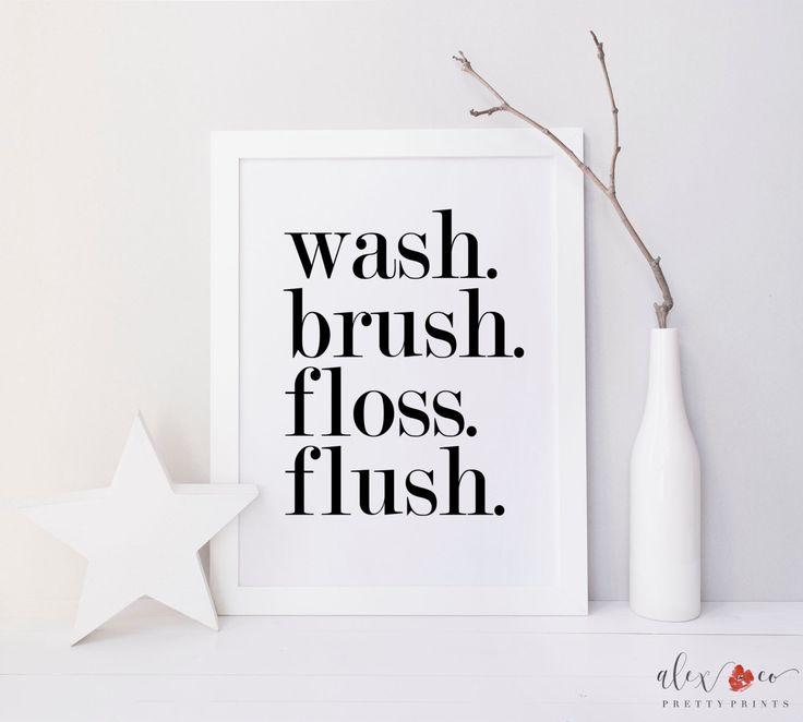 Wash Brush Floss Flush Bathroom Printable. Kids Bathroom Art. Bathroom Art Print. Bathroom Sign. Bathroom Rules Sign. Bathroom Wall Art. by alexandcoprintables on Etsy https://www.etsy.com/listing/181265367/wash-brush-floss-flush-bathroom