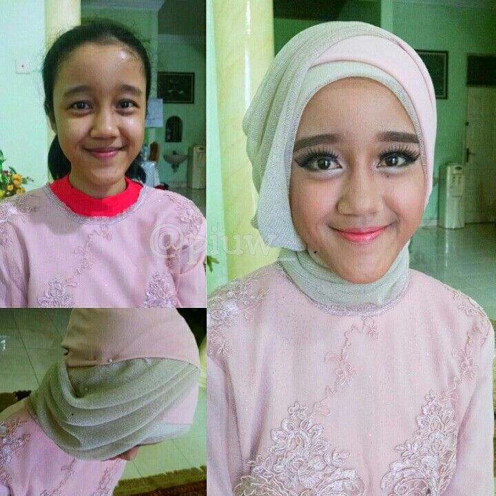 Natural make up for young girl