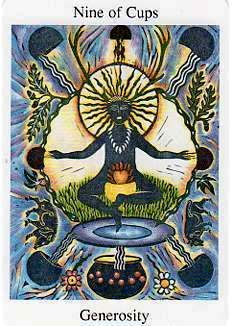 9 of cups and 6 wands relationship