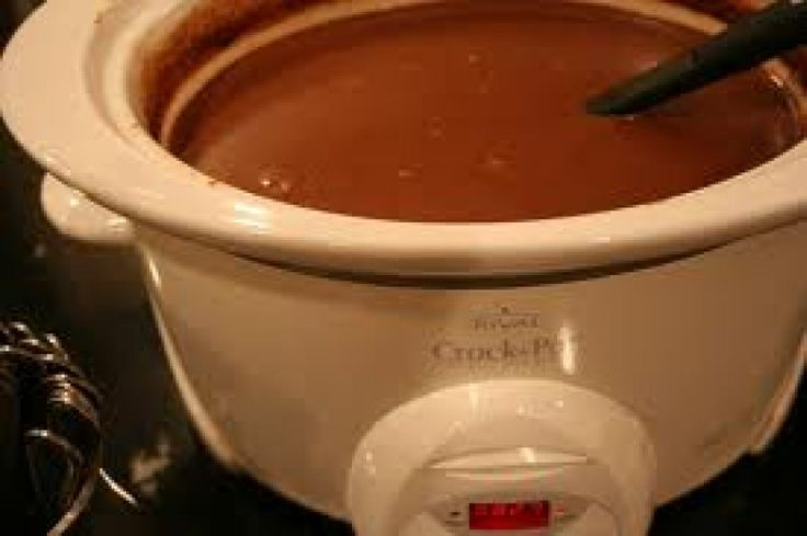 Crockpot Triple Hot Chocolate.  Great idea for winter parties.  I will so have to try this, and keep some peppermint schnapps on the side!